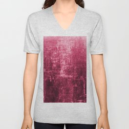 Pink Distressed & Textured Paper Design Unisex V-Neck