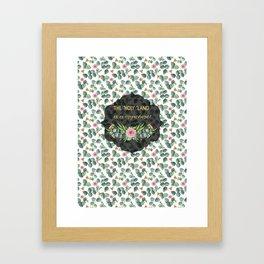 Gorgeous Eucalyptus Flowers Leaves Pattern Framed Art Print
