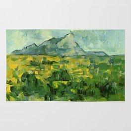 """Paul Cezanne """"Mont Sainte-Victoire"""", c.1906 Rug"""