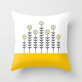 Spring Shoots (Crocus Yellow) Throw Pillow