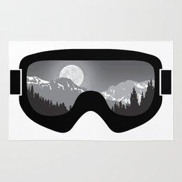 Moonrise Goggles - B+W - Black Frame | Goggle Designs | DopeyArt Rug
