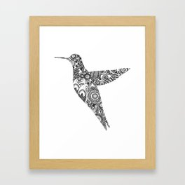 The humming bird Framed Art Print