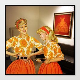Daughter and Her Narcissistic Mother Canvas Print