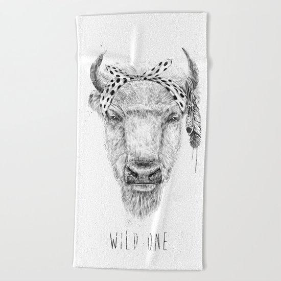 Wild one Beach Towel
