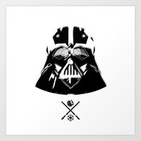 darth Art Prints featuring Darth. by Glassy