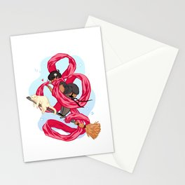 Scarf Witch  Stationery Cards