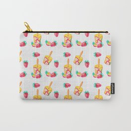 Vintage retro cocktail pattern Carry-All Pouch