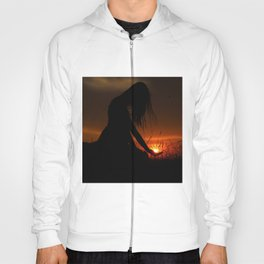 All the World Is Yours Sunset Photograph Hoody
