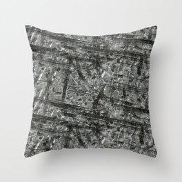 Gouged Stainless Texture Throw Pillow