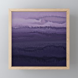 WITHIN THE TIDES ULTRA VIOLET by Monika Strigel Framed Mini Art Print