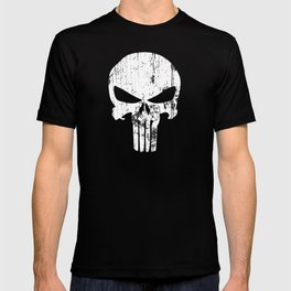 The Punisher Logo Black Background T-shirt