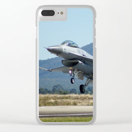 F-16 Fighting Falcon Clear iPhone Case