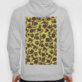 red flowers and leaves . art Hoody