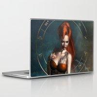 zodiac Laptop & iPad Skins featuring Zodiac Scorpio by Britta Glodde