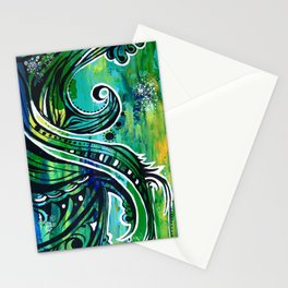 green and blue Stationery Cards
