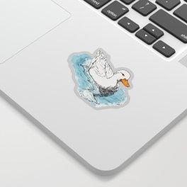 White Duck Sticker