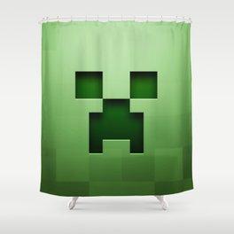 Mine craft face Shower Curtain