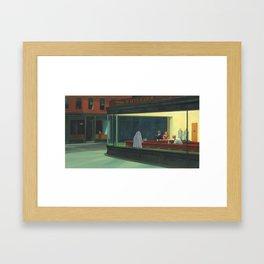 """Ghost Nighthawks"" / Edward Hopper Framed Art Print"