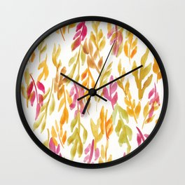 180726 Abstract Leaves Botanical 12 |Botanical Illustrations Wall Clock