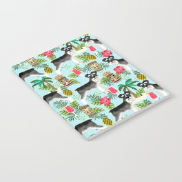 Schnauzer tiki pattern floral hibiscus floral flower pattern palm leaves Notebook