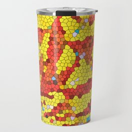 Yellow and red abstract Travel Mug