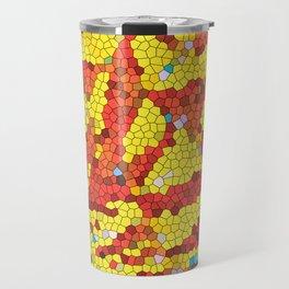 Yellow and red abstract Travel Mug