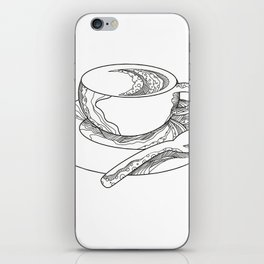 Cup of Coffee Doodle iPhone Skin