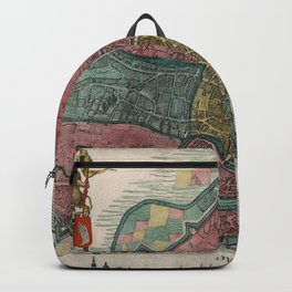 Vintage Map of Ghent Belgium (1780) Backpack