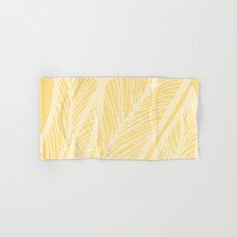 Golden Yellow Banana Leaves Hand & Bath Towel