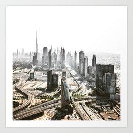 burj khalifa in dubai Art Print