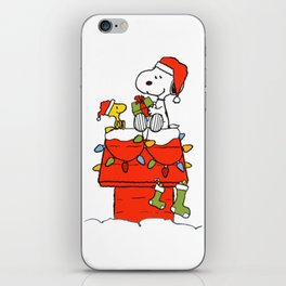 Snoopy Christmas iPhone Skin