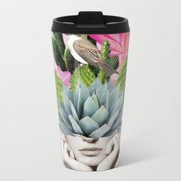 Cactus Lady Metal Travel Mug