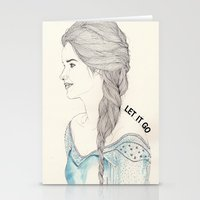 frozen elsa Stationery Cards featuring Elsa (Frozen) by Kaethe Butcher