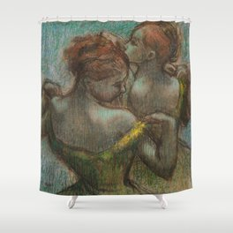 "Edgar Degas ""Two dancers - half-length"" Shower Curtain"