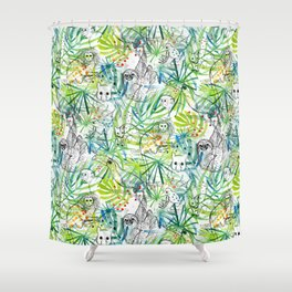 Endangered in the Rainforest Shower Curtain
