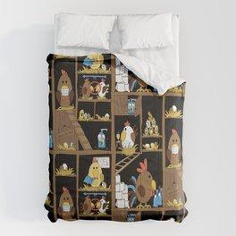 Chicken Coop 2020 Comforters