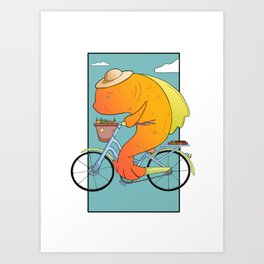Out for Groceries Art Print