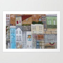 The view from my balcony Art Print