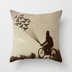 Steampunk Explorer Throw Pillow