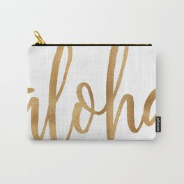 Aloha - gold and white Carry-All Pouch