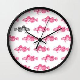 Sculpin Fish pattern Wall Clock