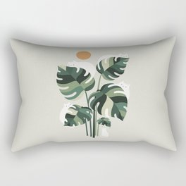Cat and Plant 11 Rectangular Pillow