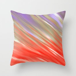 Crimson Aurora Throw Pillow