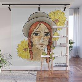 Sunflower girl Wall Mural