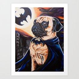 Bat-man the Pug Art Print