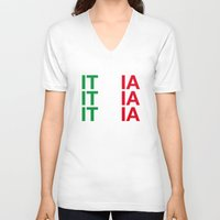 italy V-neck T-shirts featuring ITALY by eyesblau