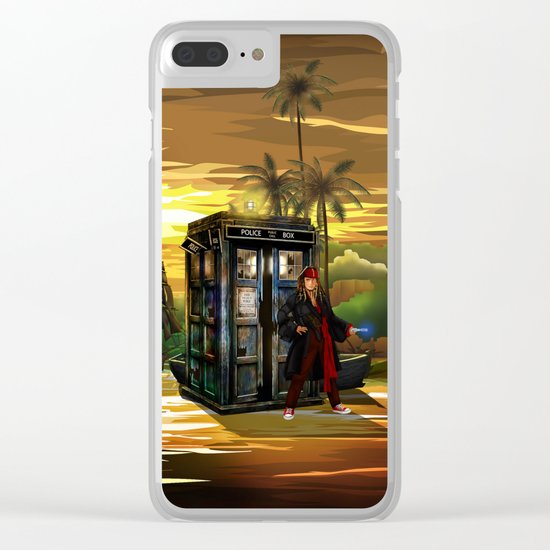 10th Doctor who Lost in the pirates age iPhone 4 4s 5 5s 5c, ipod, ipad, pillow case and tshirt Clear iPhone Case