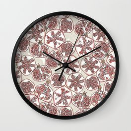 watercolor pomegranates Wall Clock