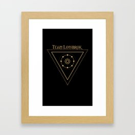 Team Lothbrok and Eternal sun Framed Art Print