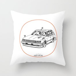 Crazy Car Art 0213 Throw Pillow